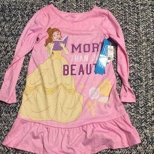 **Disney Collection Girls Pink Belle Nightgown NWT